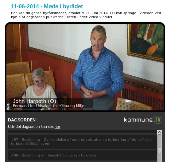 John Harpøt, Dansk Folkeparti, i byrådssalen