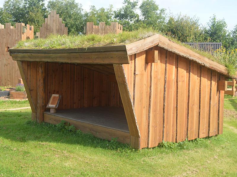 Selve shelter set fra åbning